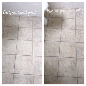 After our grout color sealing