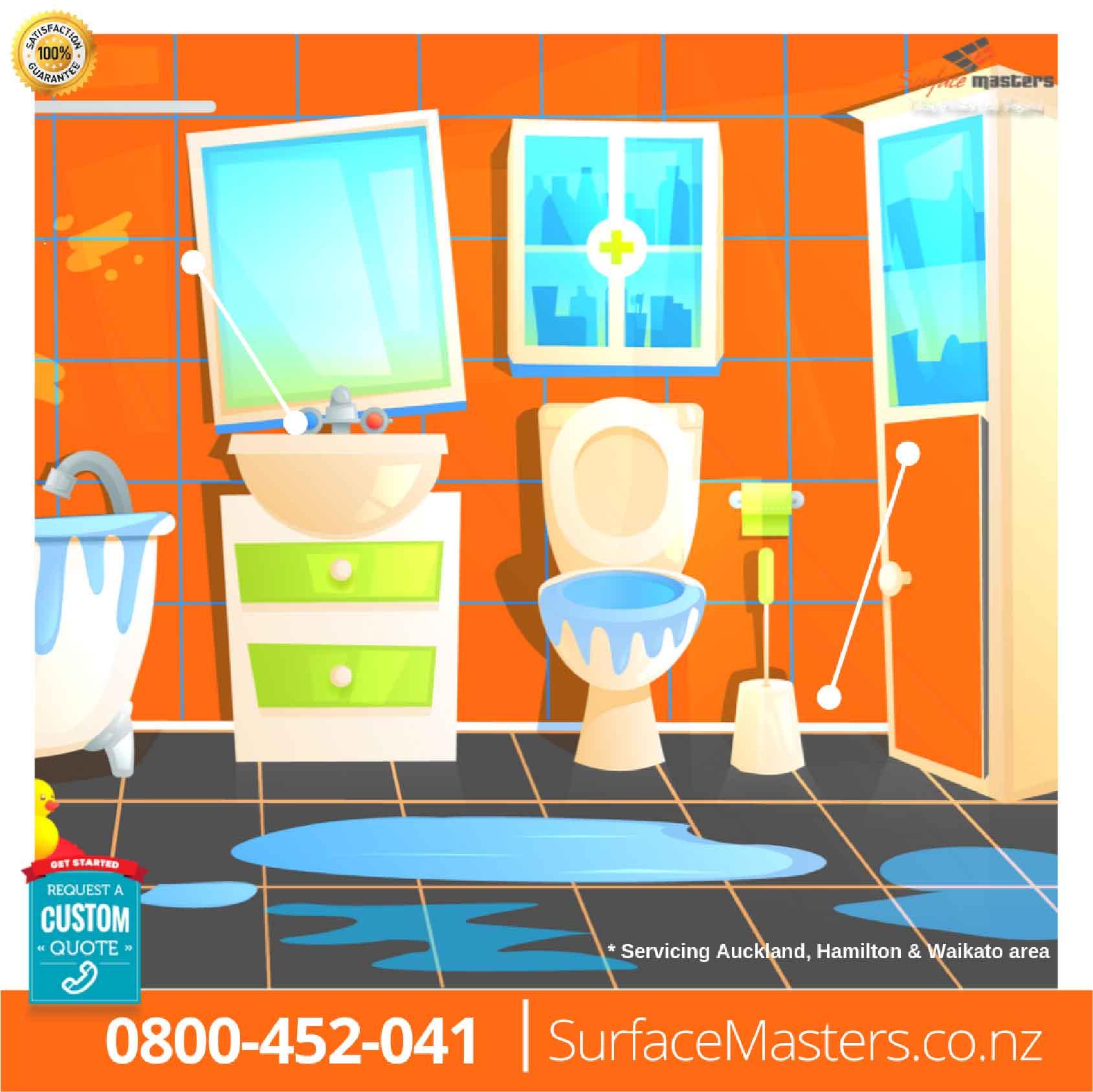 Leaky shower repair in bathroom